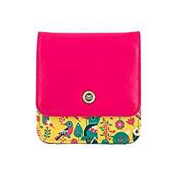 Chumbak Tropical Birds Pocket Wallet- Yellow