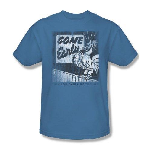 Carolina Come primi, per adulti, colore: blu, taglia: S/S-T-Shirt da uomo Blu (Carolina Blue)