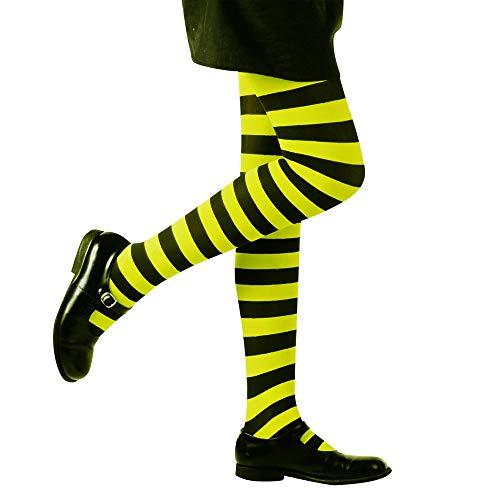 Widmann 01212 Gestreifte Strumpfhose Kostüm, girls, XXX-Small