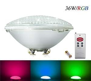Coolwest rgb 36w led swimming pool lighting par56 - Swimming pool light bulbs halogen ...