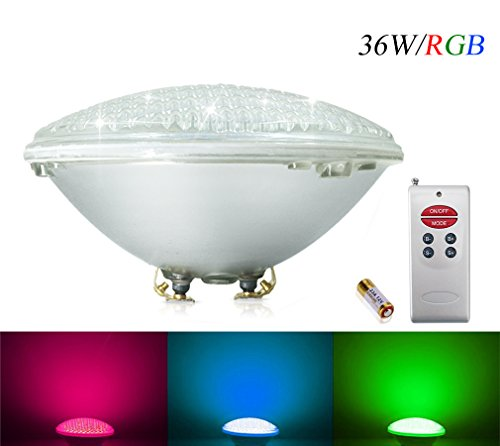 Foco LED piscina empotrable RGB 36w IP68 con mando
