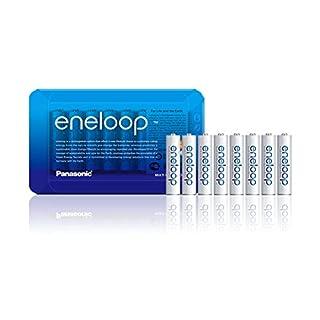 Panasonic eneloop, Ready-to-Use Ni-MH Akku, AAA Micro, 8er Pack, inkl. Storage Case, min. 750 mAh, 2100 Ladezyklen, starke Leistung und geringe Selbstentladung, wiederaufladbare Akku Batterie