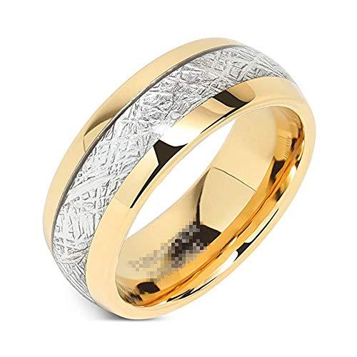 Frauen übergroße polarisierte Sonnenbrille Herren Eheringe Wolfram Gold Ringe Comfort Fit Imitiert Meteorit Intarsien Geschenk Ring Größen 4-13 Brille polarisierte Sport-Sonnenbrille ( Größe : 10 ) (Gold-wolfram Herren Ehering)