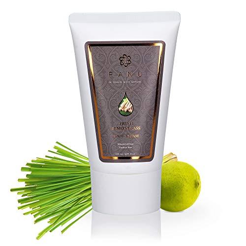 Duftende Fußcreme (Panu Naturkosmetik - Lemongrass Fußcreme für die Fußpflege - natürlich - vegan - tierversuchsfrei - für Hornhaut entfernung (120 ml))