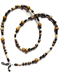 Glasses Chain - Wooden beaded spectacle cord - Eyeglasses strap / holder / Lanyard - 30 inches