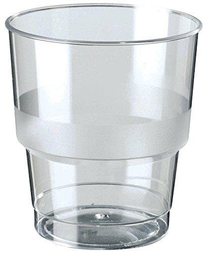 120 x Einweg / Plastik Trinkglas / Saftglas / Wasserglas Ø 7,6 cm | 250 ml (0,10 € / Stück)