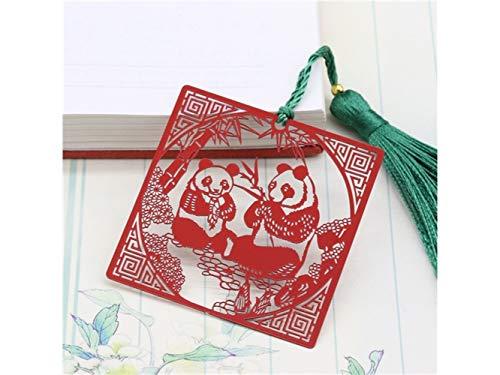 XIAOL Home Exquisite Classic Panda Metall Lesezeichen Quaste Fringe Lesezeichen für Weihnachten Geburtstagsgeschenk (Diy Kostüm Panda)