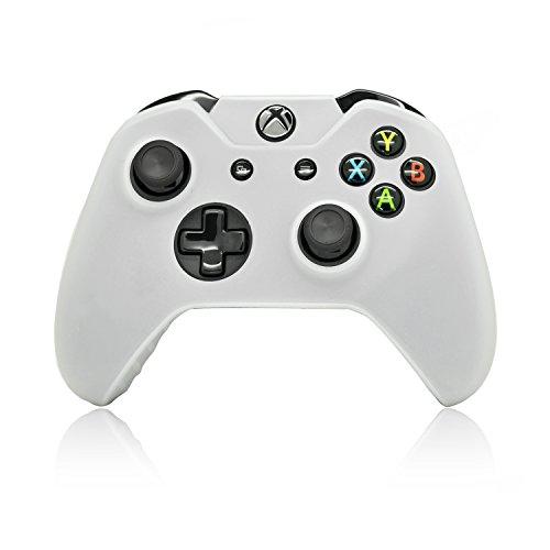 Preisvergleich Produktbild iProtect Silikon Schutzhülle für Microsoft Xbox One Controller Skin in weiß