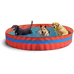 New Plast piscina para perro piscina para perros Ø 305x H 46cm Naranja 305x 305x 46cm 3100