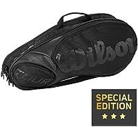 WILSON Tour 6er Racket Bag Black Klassische Sporttaschen, schwarz, One Size