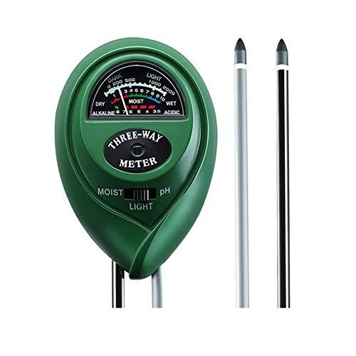 Rapitest Ph-meter (magstonee 3in 1Erde Tester Feuchtigkeit Meter, Licht und pH Säure Tester, Gartengeräte, für Pflanzen, Rasen, Farm, innen/außen, einfach Lesen Anzeige (kein Akku erforderlich))