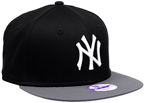 Team Mlb Baseballs (New Era Jungen, Kappe, K MLB COTTON BLOCK NY YANKEES 9FIFTY, Black/Grey/White, One Size, 10880043)