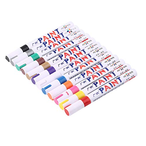 Practical Indelible Marker Pen Oil Fill Paint Pen Graffiti Multifunctional Tire Pen with 12 Colors Marks On All Surfaces