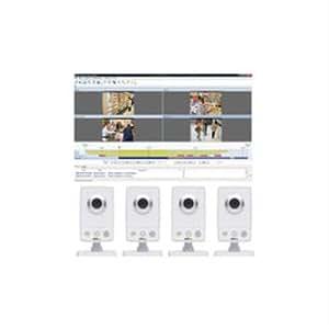 AXIS M1054 Surveillance Kit Caméra réseau couleur iris fixe audio 10/100 CC 5 V / PoE
