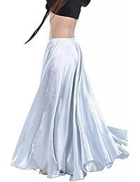Backgarden 90 centimetri di danza del ventre di raso Lungo abito cintura  elastica disegno vestito ( 66bc9f7d0c9