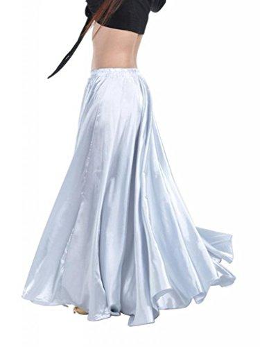 90-centimetri-di-danza-del-ventre-di-raso-lungo-abito-cintura-elastica-disegno-vestito-bianco