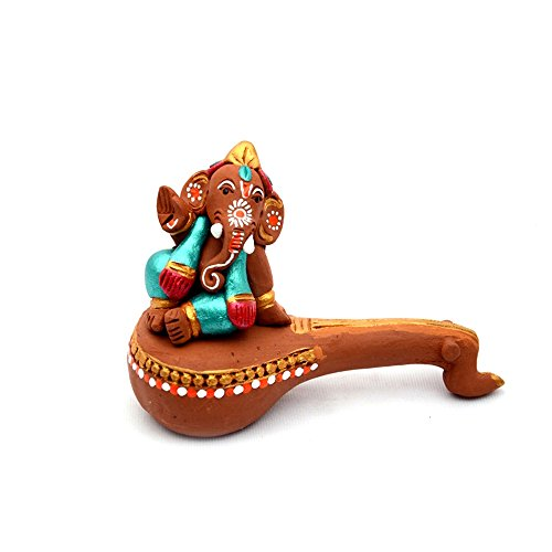 ExclusiveLane Terracotta Handpainted Veena Ganesha  available at amazon for Rs.665
