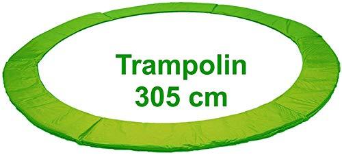 Izzy Trampolin Federabdeckung Ø 305 cm 365 cm 366 cm 426 cm, 430 cm, PVC reißfest, 100{f0fb7ab6ab29777c341d9f99e545b96954fdf3bbbad1613bc716d27fa3e0a1f7} UV-beständig, Randabdeckung, Randpolsterung, Randschutz, Umrandungsmatte (305 cm - grün)