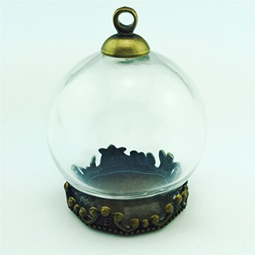 10pcs 20x 15mm), diseño mini transparente globo de cristal con ca