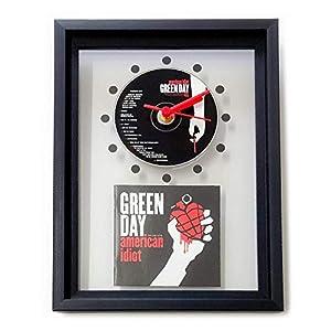 GREEN DAY – American Idiot: GERAHMTE CD-WANDUHR/Exklusives Design