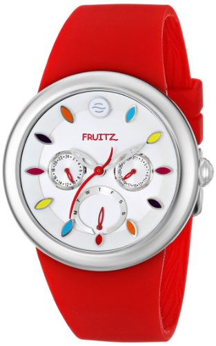Fruitz by Philip Stein Unisex F43S-TF-R Stainless Steel Watch with Red Band