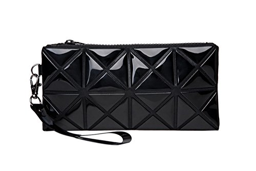 41BnlnTJjrL BEST BUY UK #1Flyingsky Polyester Laser Geometry  Triangle Rhombus Style High Luminance Color Phone Handbag (black) price Reviews uk