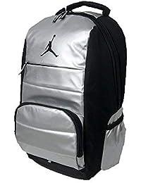 721c13a071771 Nike Air Jordan Jumpman Driven all World Student School Sports Libro di  Zaino Argento Metallizzato Nero