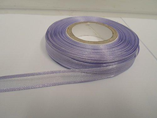 Organzaband, 2Meter x 10mm eingefasst, Lavendel, Lila, Violett, doppelseitig, Satin Edge, 10mm (Lavendel Doppelseitiges Satin-band)