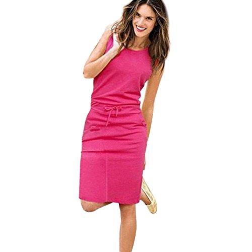 Yanhoo Mode Frauen Sommer Boho Streifen Lange Maxi Kleid Abend Party Strand Kleider Asymmetrische...