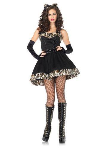 Leg Avenue 83851 - Frisky Feline Kostüm, Größe: S/M, schwarz (Frisky Katze Kostüm)