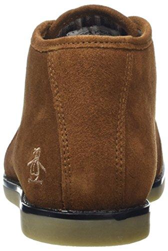 Original Penguins Herren Lawyer Combat Boots Braun (Cognac)