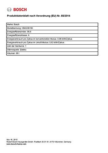 Bosch HBA33B150 Einbaubackofen - 3