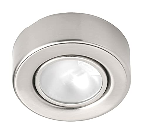 Leyton Lighting 12v 20w halogen surface downlight stainless steel warm white Driver Required