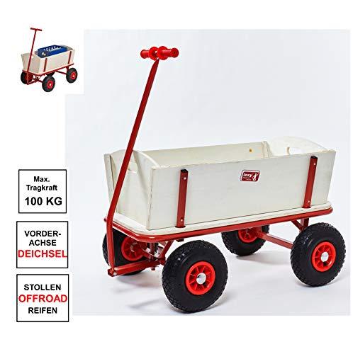 Izzy Bollerwagen Holz Luftreifen (Kinder 100kg)