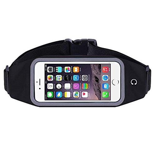 Bauchtasche Hüfttasche iPhone 6s / 6 Sport Waist Bag Handy Street Case Jogging , Farben:Blau Schwarz