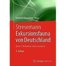 Stresemann - Exkursionsfauna von Deutschland. Band 1: Wirbellose (ohne Insekten)