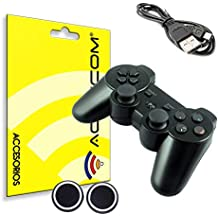 ACTECOM® MANDO INALÁMBRICO PS3 BLUETOOTH DUALSHOCK JOYSTICK NEGRO WIRELESS CON BATERIA PARA PLAYSTATION 3 COMPATIBLE OEM SIN BLISTER