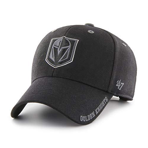47 Brand Vegas Golden Knights Graphite Defrost MVP Adjustable NHL Cap, One Size