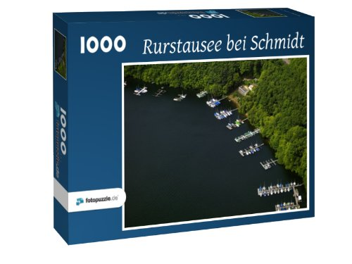 Rurstausee bei Schmidt - Puzzle 1000 Teile mit Bild von oben