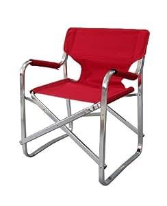 Chaise pliante portatif en aluminium rouge fauteuil mobilier de camping jardin amazon - Mobilier jardin rouge besancon ...