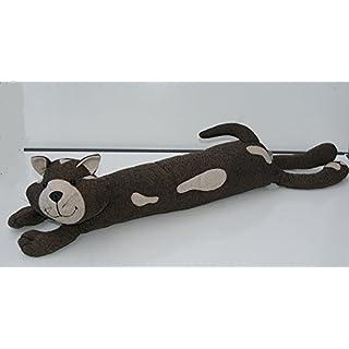 2.6 kg Brown and Beige Tweed Fabric Cat Draught Excluder Heavy Door stop