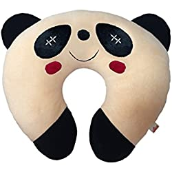 Ultra Soft Panda Designed Neck Cushion Pillow, Peach (14-inch)