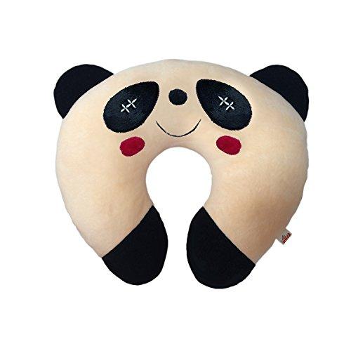 Ultra Soft Panda Designed Neck Cushion Pillow, Peach (14-inch)