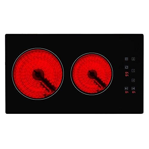 Cocina de inducción , Cocina eléctrica integrada de 2 Fuegos con Control...