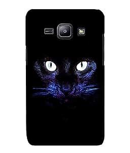 Fuson 2D Printed Cat Designer back case cover for Samsung Galaxy J1 - D4508