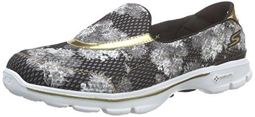 Skechers Go Walk 3gold Rush, Sneakers basses femme Noir - Schwarz (BWGD)