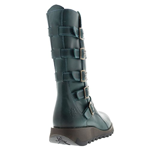 Fly London Womens Seca 860 Leather Boots Petrol