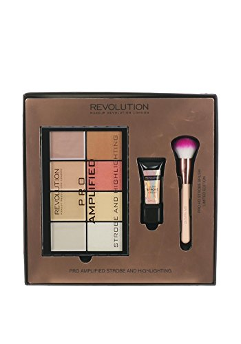 Make-up Revolution Pro Amplified Strobe & highlighting- Palette, Ultr Bandlaufwerk Strobe creme & Bürste