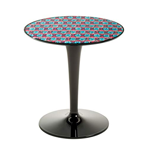 Kartell Table d'appoint Tip Top Nero Fantasia Colorata