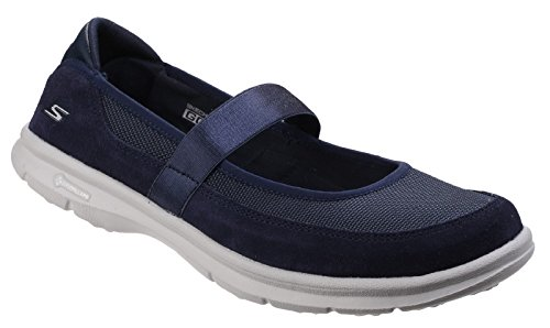 Skechers Womens/Ladies Go Step Snap Suede Athletic Mary Jane Shoes (Leder Snap Fühlen)